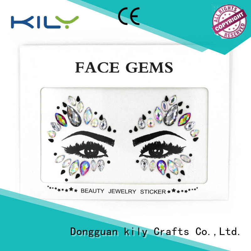 KILY gold face jewels manufacturer for Christmas