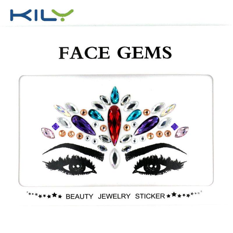 Beautiful body arts festival face jewels face gems KB-1159