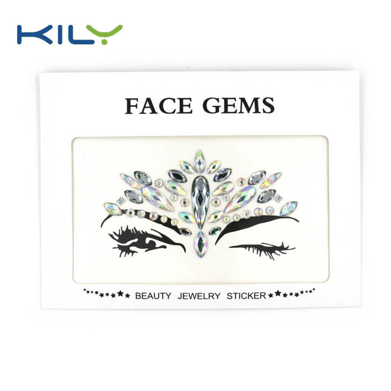 Face gems designs face jewels for Halloween party sticker KB-1061
