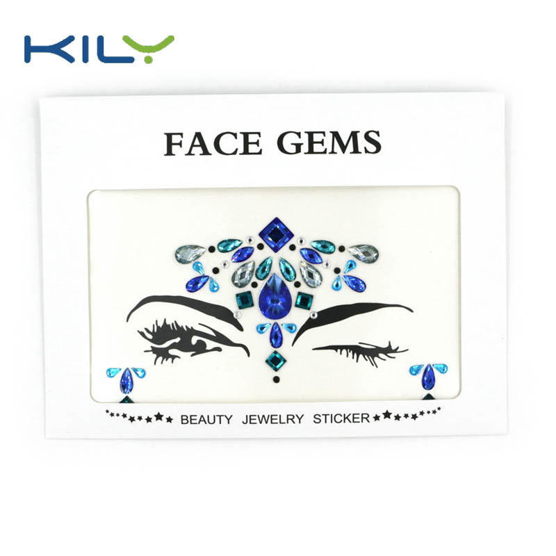 Face gems festival jewels stickers for party decoration KB-1002