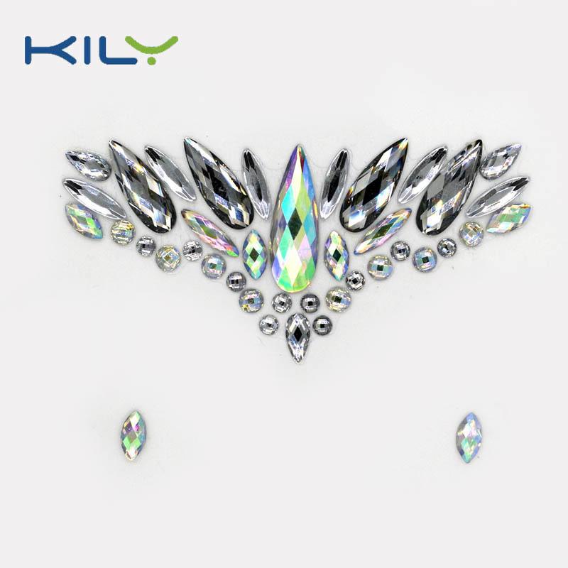 Face gemstones stick on festival face decoration KB-1007-1