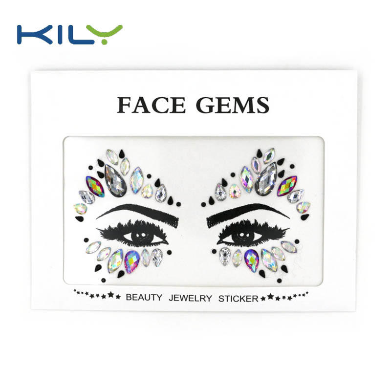 Face jewels sticker face gems for carnival makeup decoration KB-1016