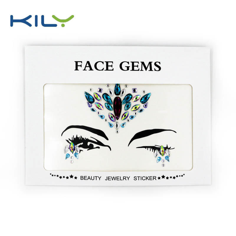 Fashions jewelry face crystal makeup sticker bulk buy from China KB-1077