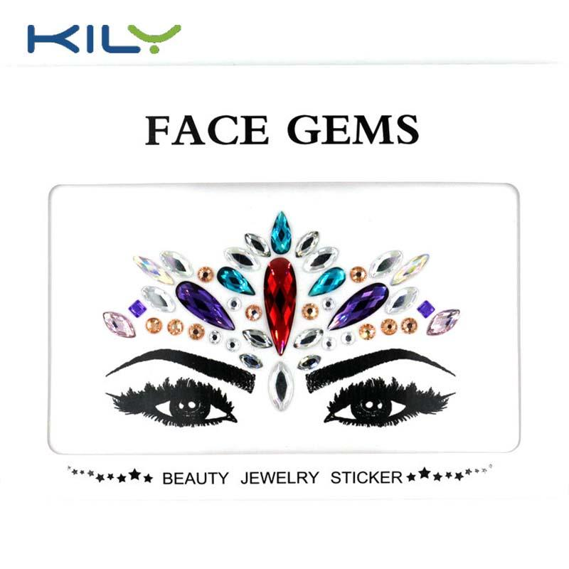Festival face gems temporary tattoos face jewels KB-1158