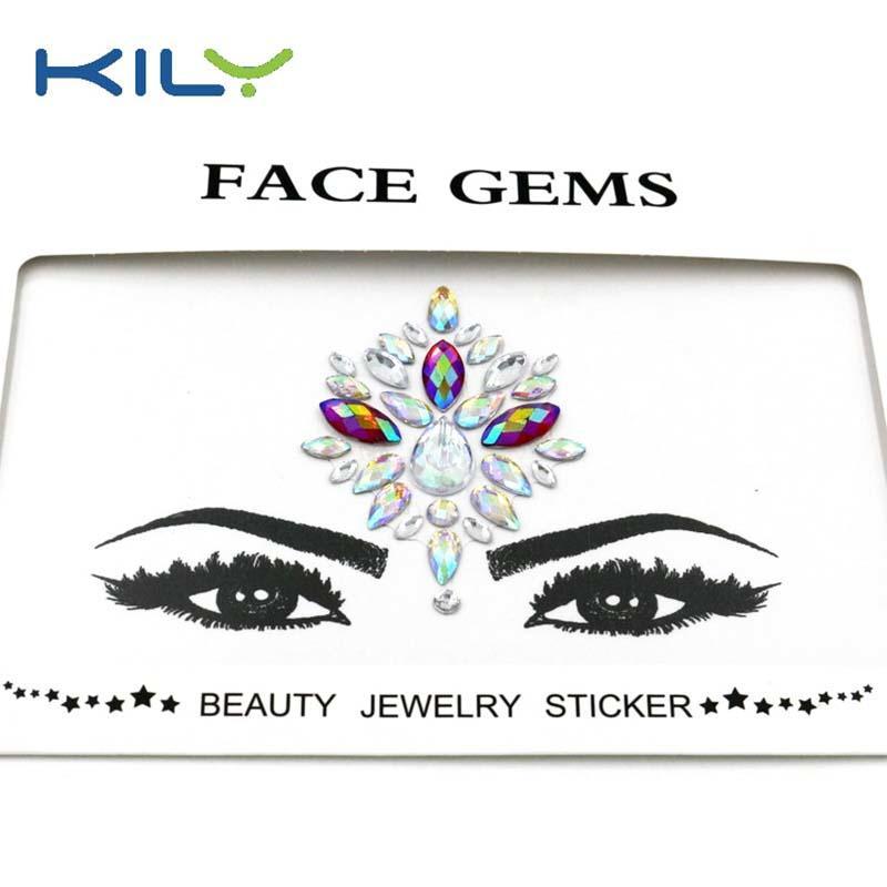 Halloween face tattoo sticker rhinestones face gems KB-1027-1