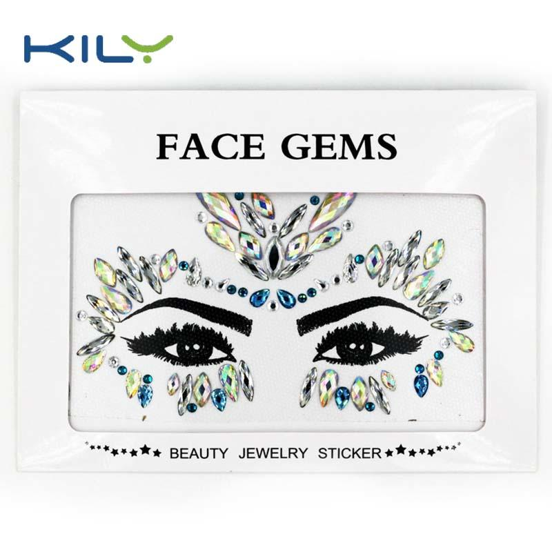 KILY latest design carnival jewels face sticker KB-1163