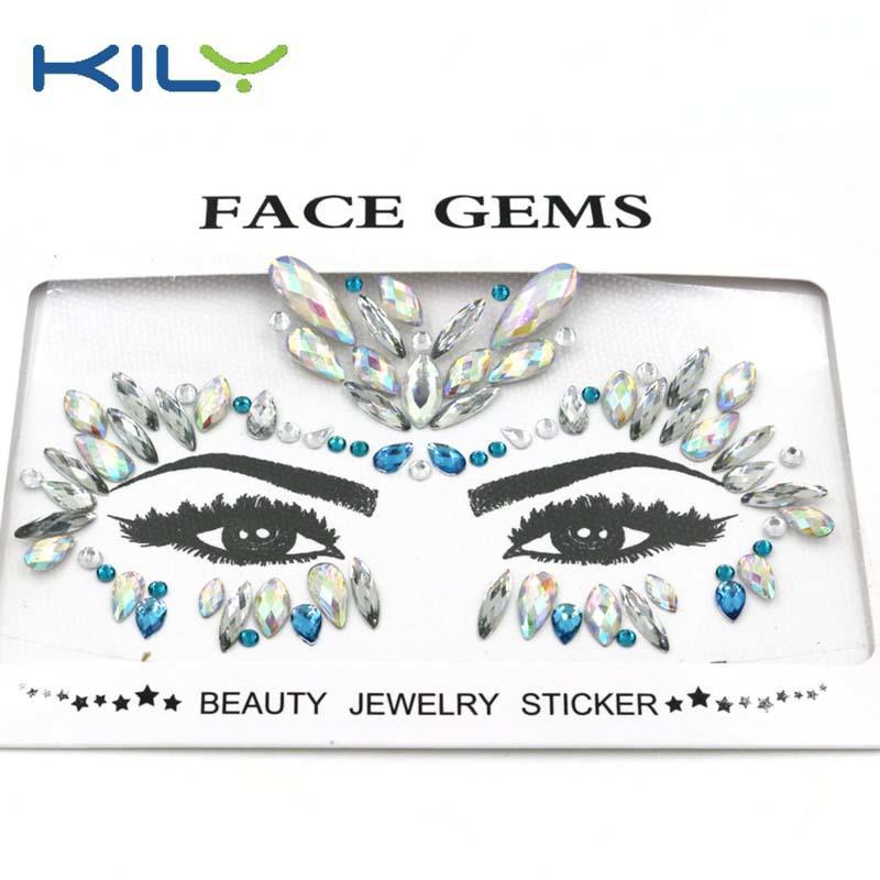 KILY latest design carnival jewels face sticker KB-1163