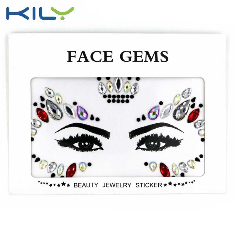 Mermaid face gems eye makeup sticker for face art decoration KB-1085