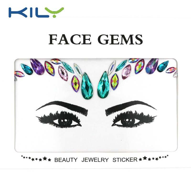 New face jewelry sticker Crystal tattoo Face Gems KB-1129
