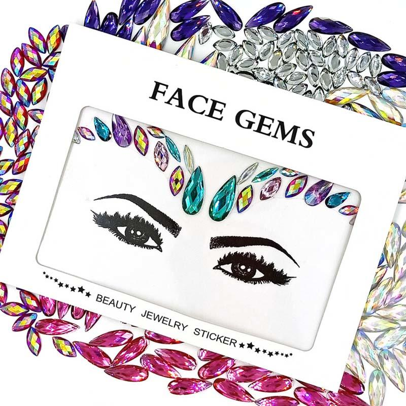 New face jewelry sticker Crystal tattoo Face Gems KB-1129