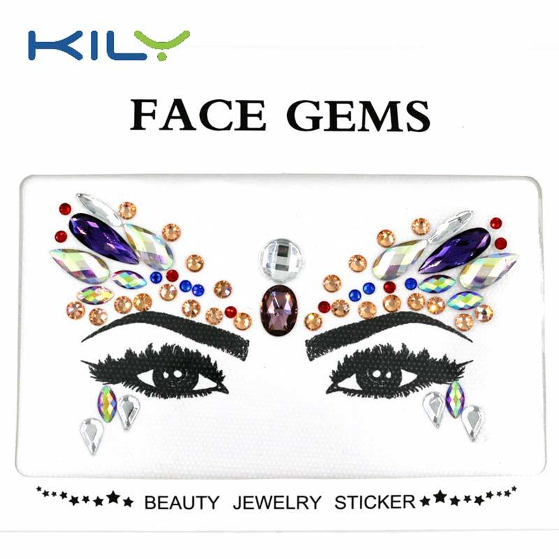 New top quality face jewels body sticker Face Gems KB-1144