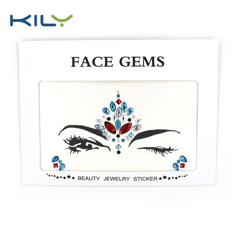 Stick on face jewels stickers for festival decoration KB-1003