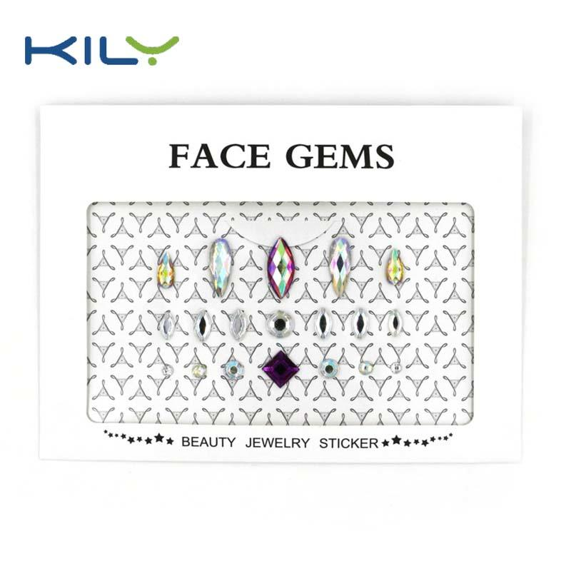 Temporary eye shadow DIY face gems sticker for eye decoration KB-1001