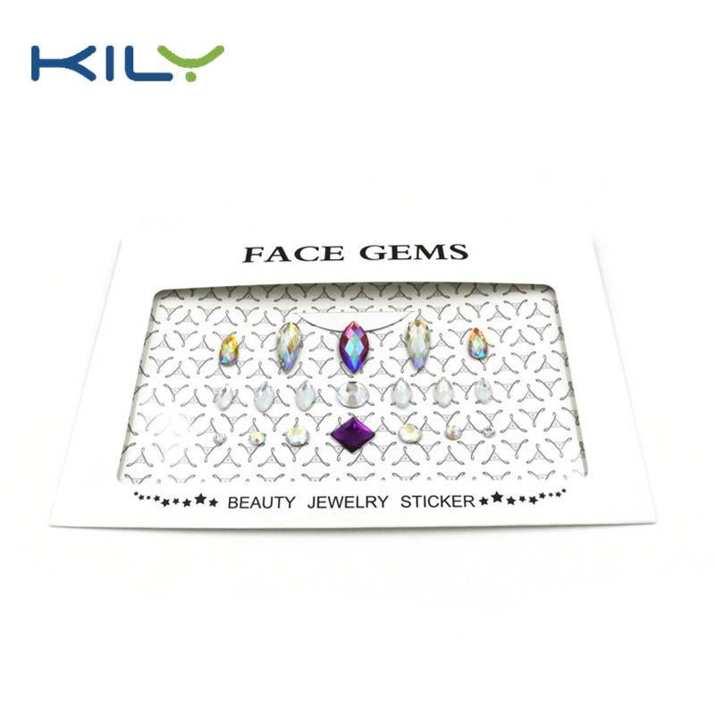 Temporary eye shadow DIY face gems sticker for eye decoration KB-1001