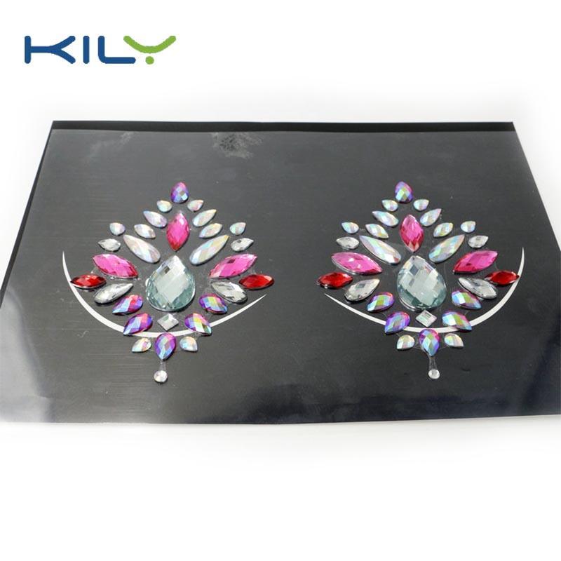 High quality Halloween crystals body nipple jewels sticker KB-3002-1