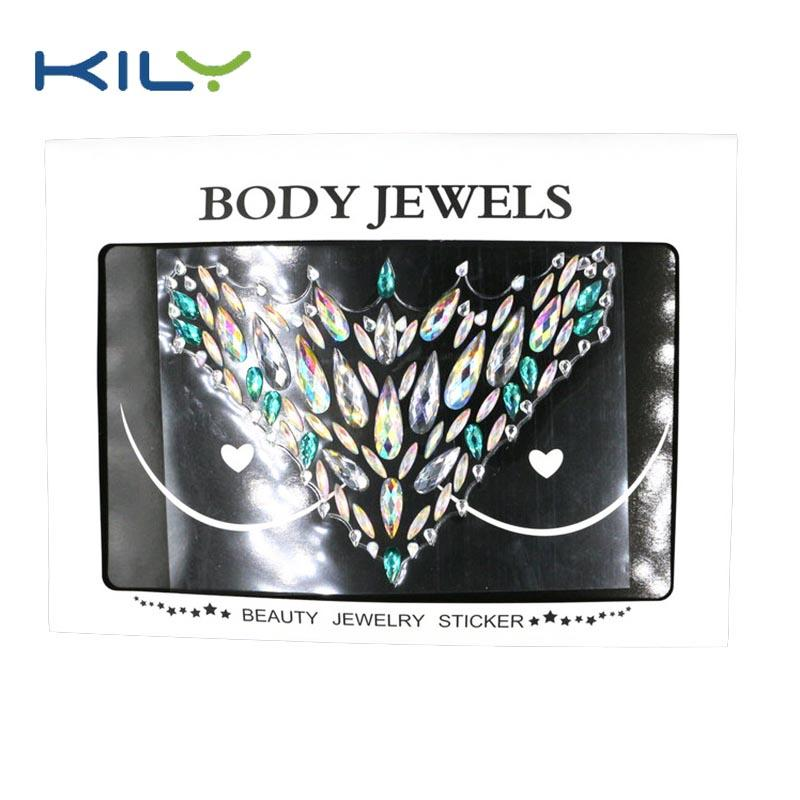 Custom cosmetics Carnival body breast  jewels sticker KB-3015