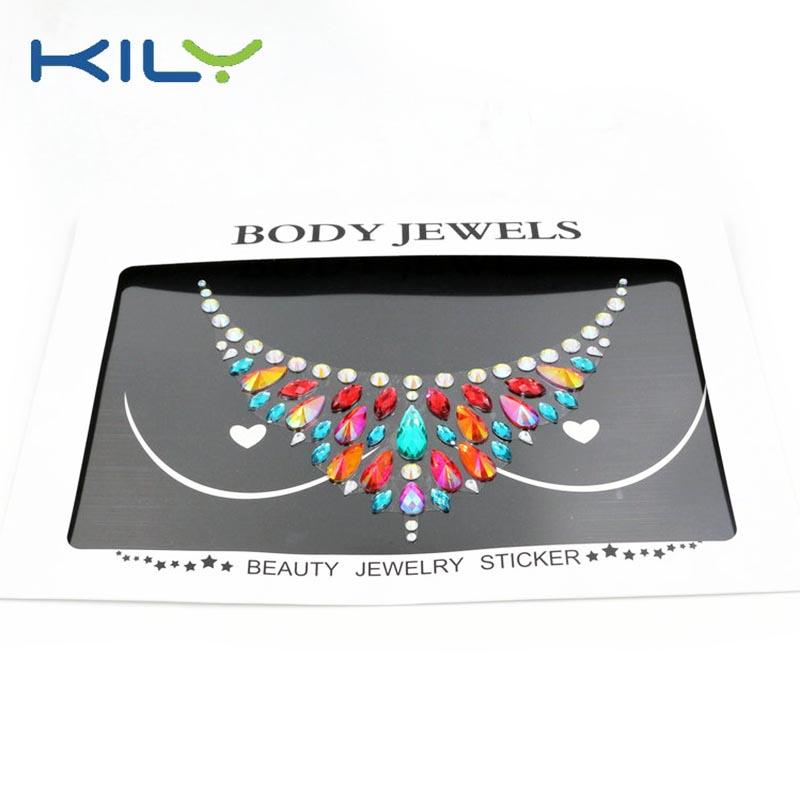 Boob gems sticker for festival adhesive body jewels sticker KB-3026