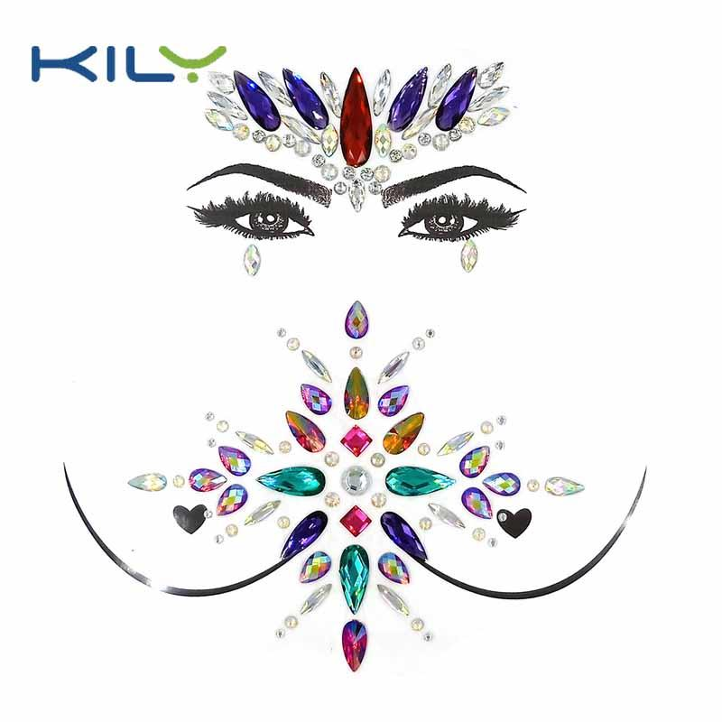 High quality Halloween face gems party body jewels kit KBK-1001