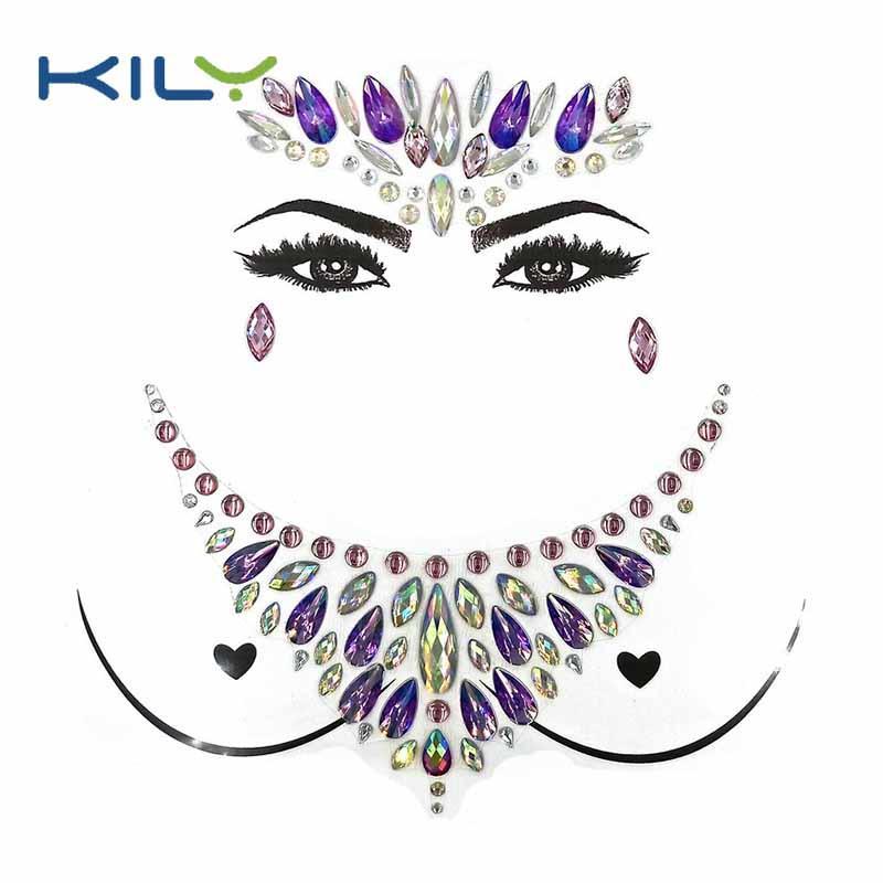 Halloween face jewels festival body chest jewel tattoo kit KBK-1002