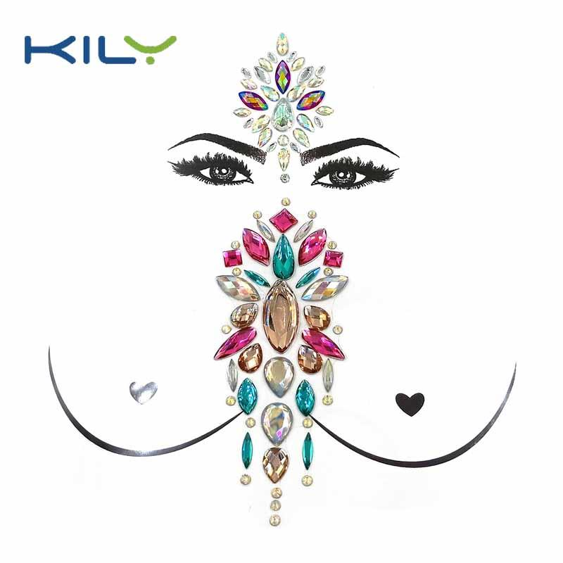 Festival decorative face jewelry boob gemstone kit KBK-1003