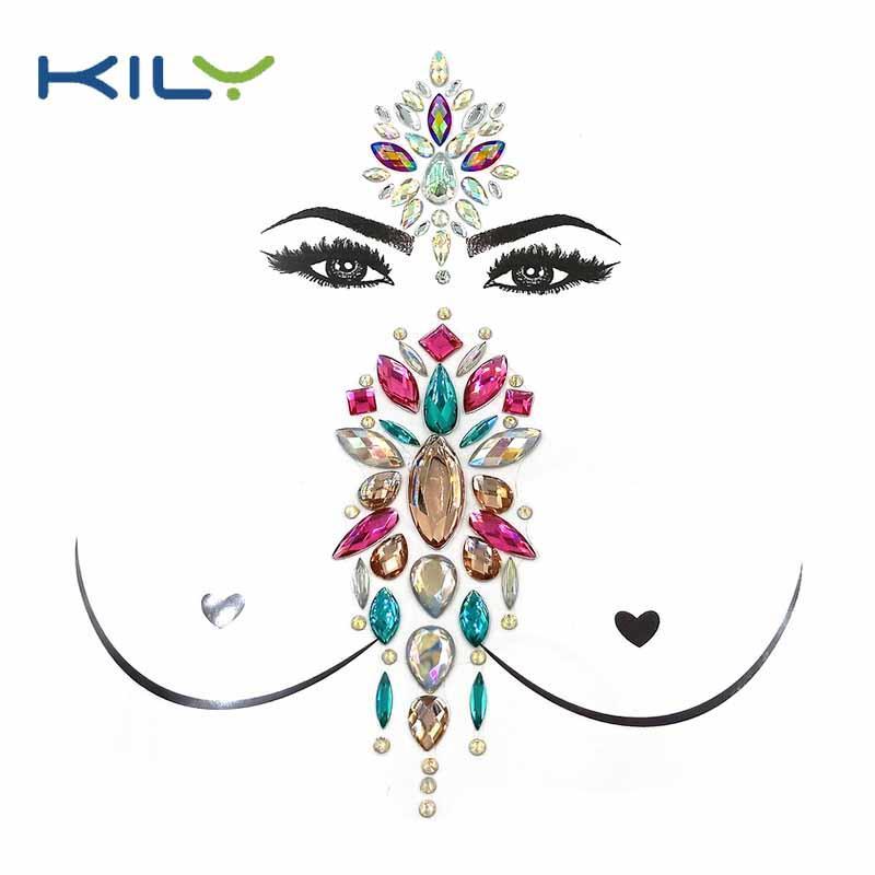 Festival decorative face jewelry boob gemstone kit KBK-1003