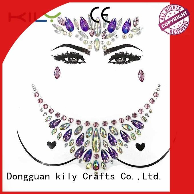 Wholesale decorative stick on body gems jewelry KILY Brand