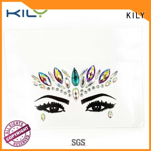 KILY Brand rhinestones face and body jewels skin supplier