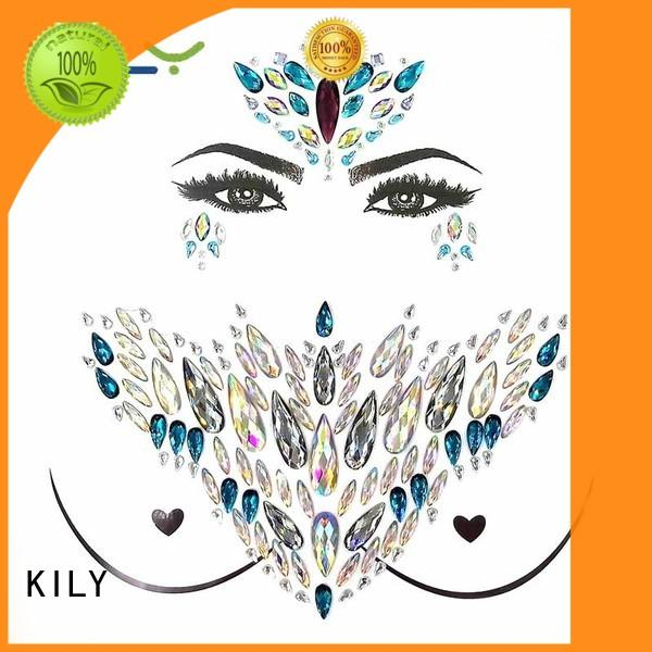 KILY safety gem tattoo series for music festival