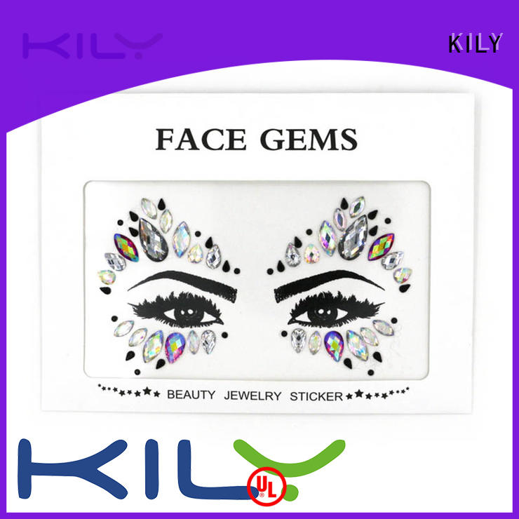 KILY online eye gems supplier for fashion show