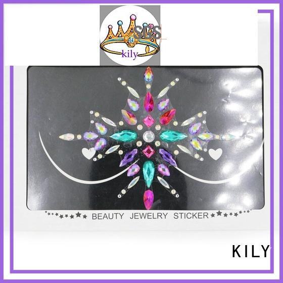 KILY stick custom body jewels wholesale for sport meeting