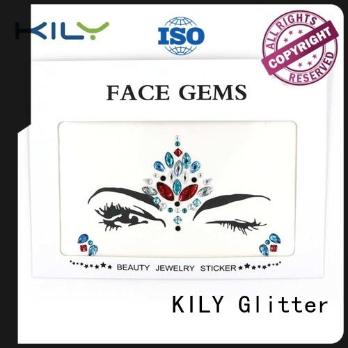custom flat face gem makeup supplier for Christmas