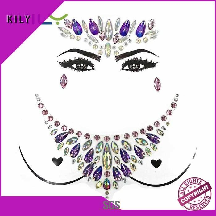 KILY boob body art jewelry wholesale for sport meeting