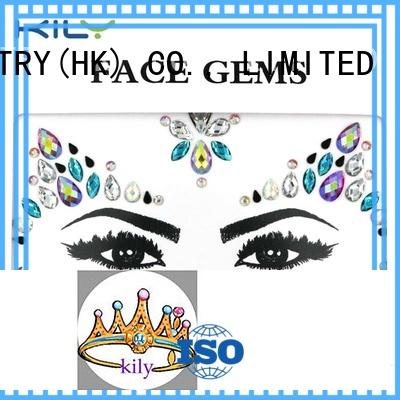 KILY custom face rhinestones manufacturer for fashion show