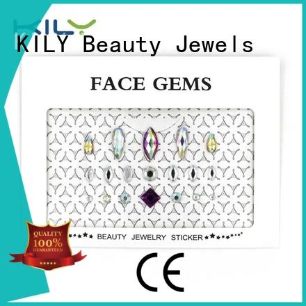 face and body jewels rhinestones grade shadow KILY Brand