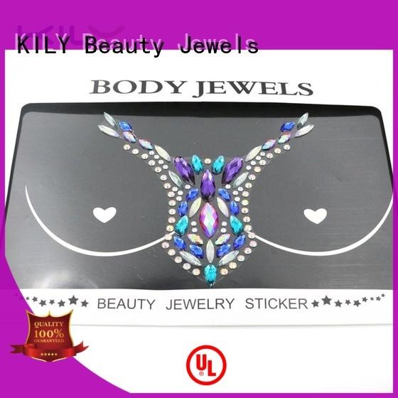 crystals nipple party KILY Brand body jewels chest factory