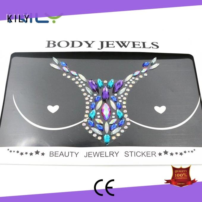 KILY non-toxic custom body jewels cover for Halloween