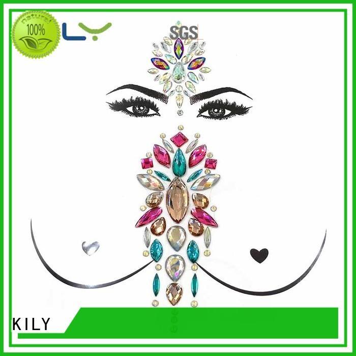 boob face stick on body gems gems festival KILY Brand