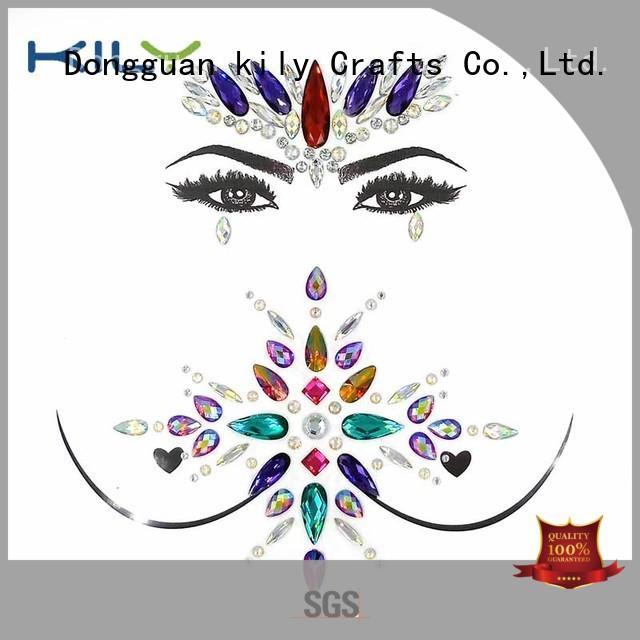 KILY Brand party gems custom stick on body gems