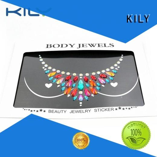 KILY online stick on body jewels for carnival
