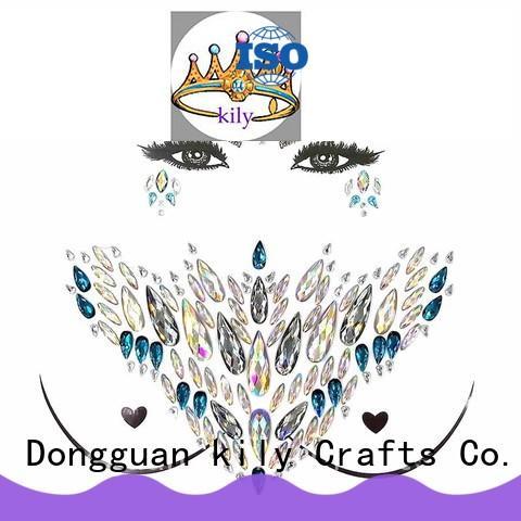 KILY online gem tattoo supplier for sport meeting