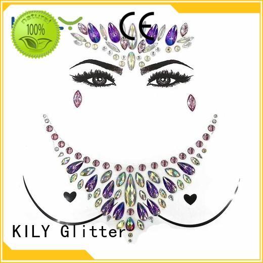 KILY safety gem tattoo manufacturer for carnival