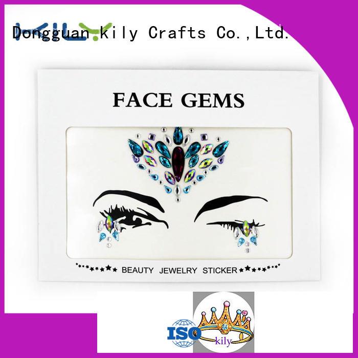 custom gold face gems manufacturer for beach