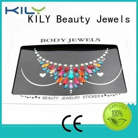 body jewel tattoos rhinestone for carnival KILY