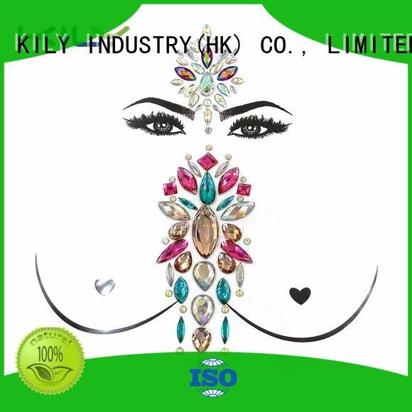 KILY face gem tattoo supplier for sport meeting