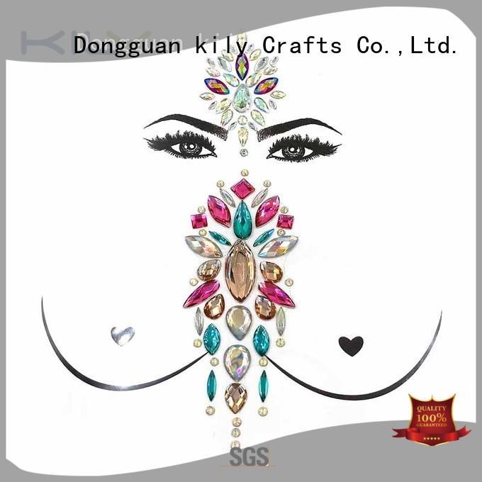 KILY gemstone body gems jewelry manufacturer for carnival