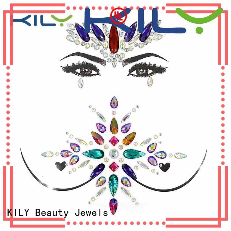 KILY gem stickers supplier for fashion show