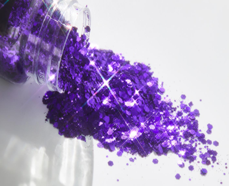 What applications does biodegradable glitter have?
