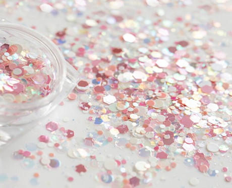 What is the development process of glitter?