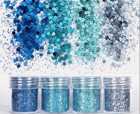 What types of glitter powder?