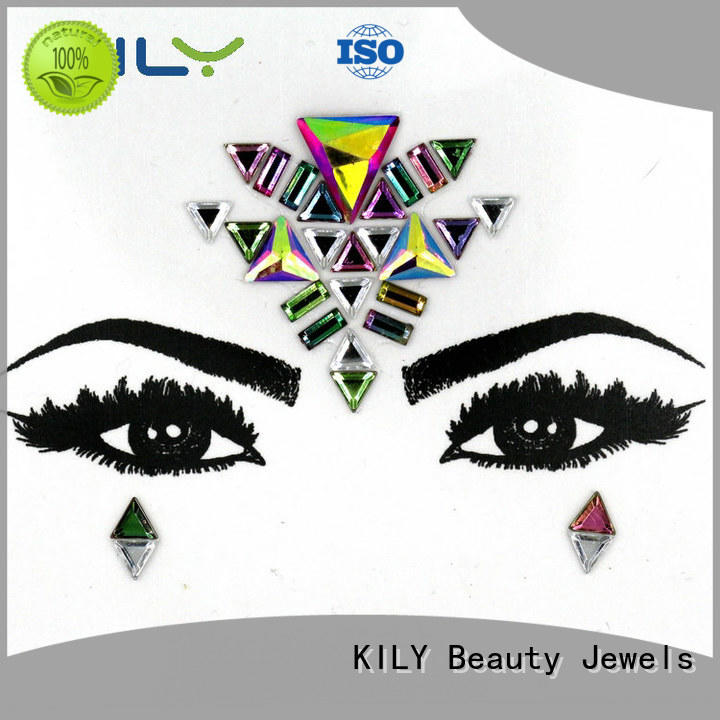 KILY custom gold face jewels wholesale for sport meeting